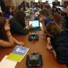 Sudents program robots at OU's DigiGirlz event