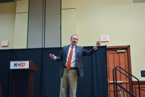 Dr. Rick L. Wilson giving his keynote address