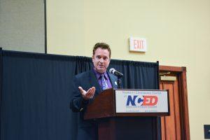 John Primo, CIO at Rose State College, addresses the summit