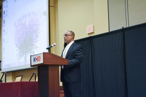 Von Royal, executive director of OneNet, addresses the summit