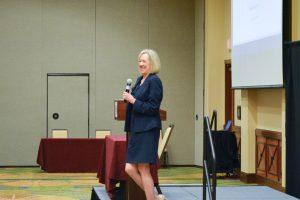 Cynthia E. Rolfe delivers her keynote address