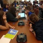 Sudents program robots at OU's DigiGirlz event